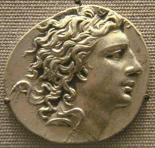 ポントスの王ミトリダテス6世を表した硬貨