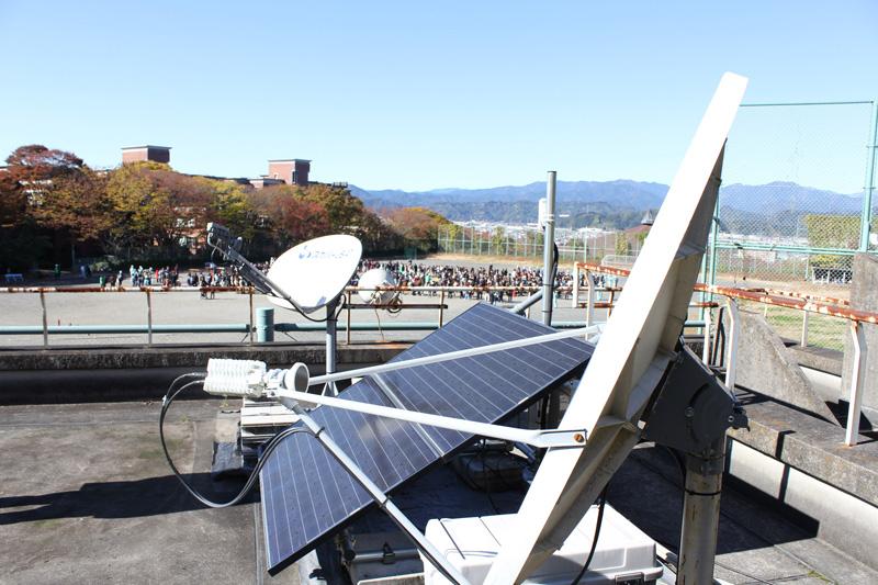 衛星インターネットWi-Fi設備とソーラー電源