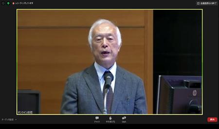 研究の趣旨説明する濱下武志グローバル地域センター長